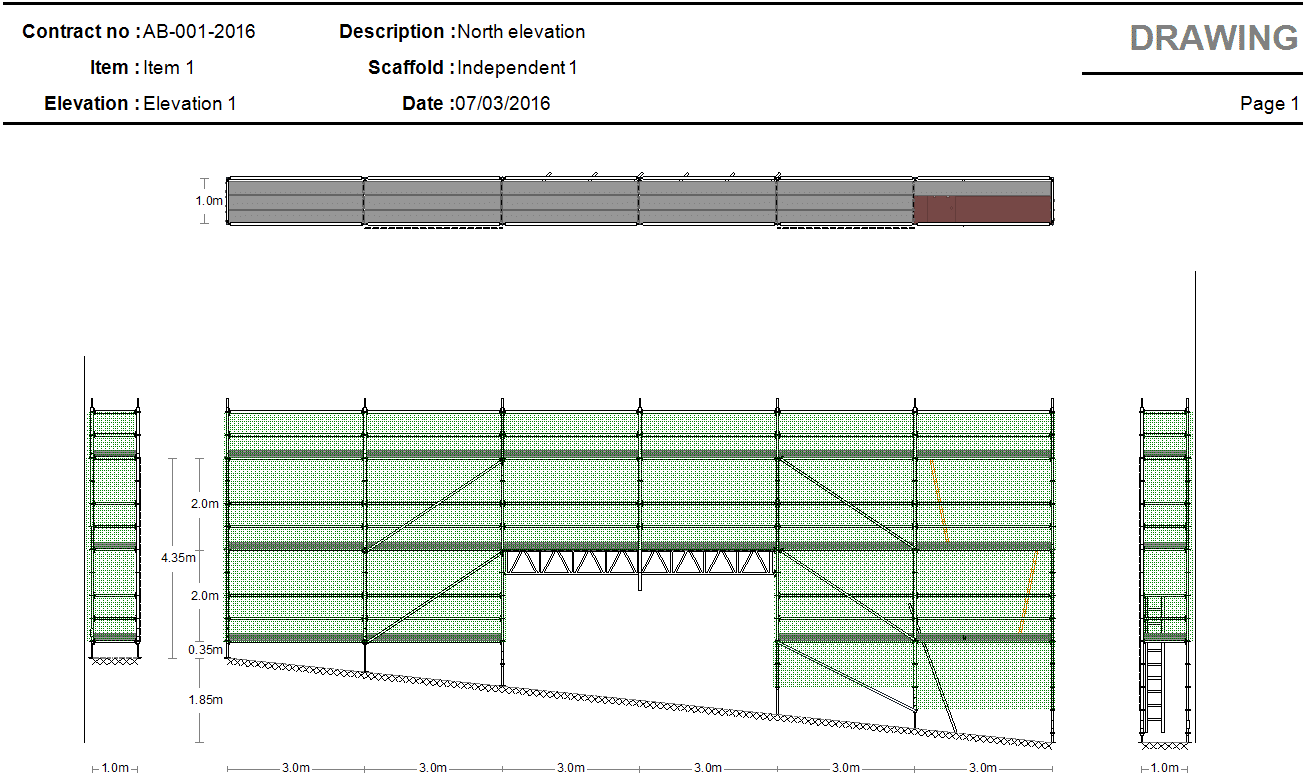 System scaffold drawing