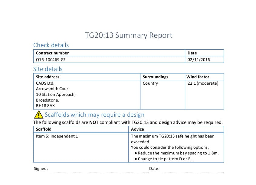Compliance Summary Report