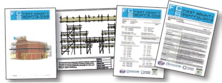Scaffold model included in a quote