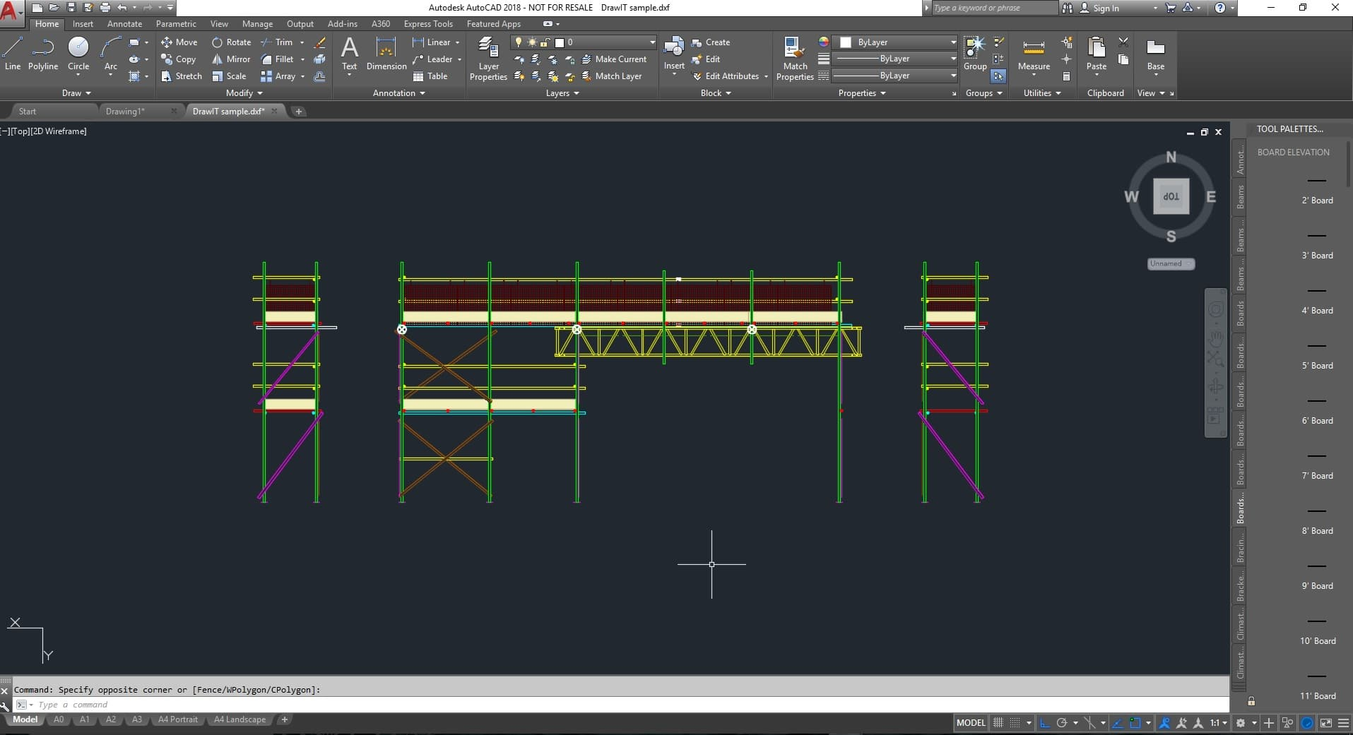 Scaffold in AutoCAD