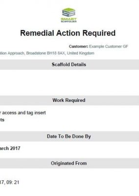 Remedial Action Report