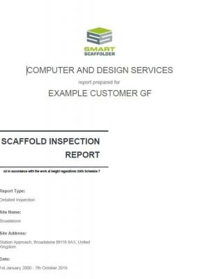 Scaffold Inspection Report